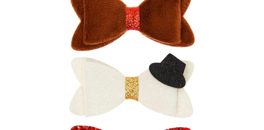 Go to Product: Christmas Hair Bow Clips - 3 Pack from Claires