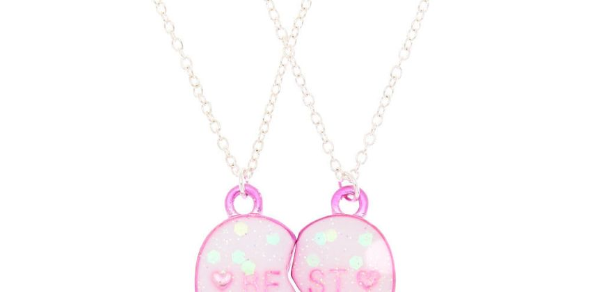 Go to Product: Best Friends Heart Pendant Necklaces - Pink from Claires