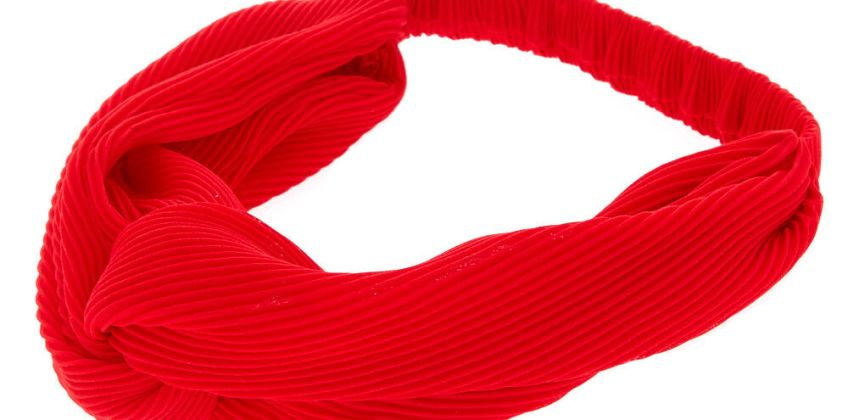 Go to Product: Ribbed Knot Headwrap - Red from Claires