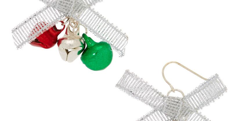 """Go to Product: Silver 1"""" Bells Drop Earrings from Claires"""