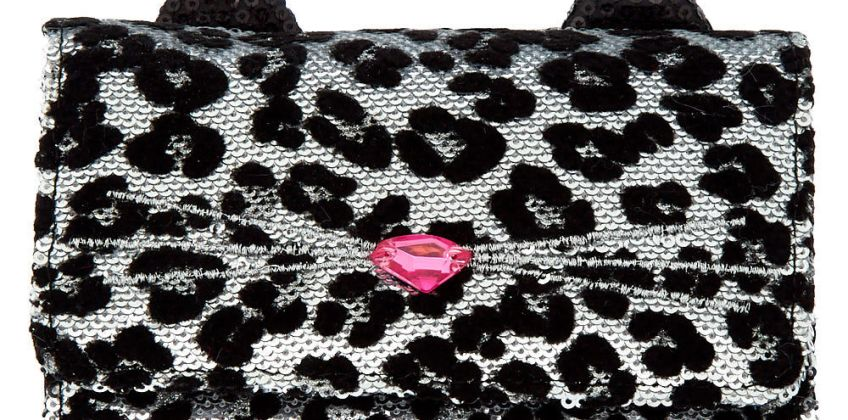 Go to Product: Sequin Leopard Wallet - Black from Claires