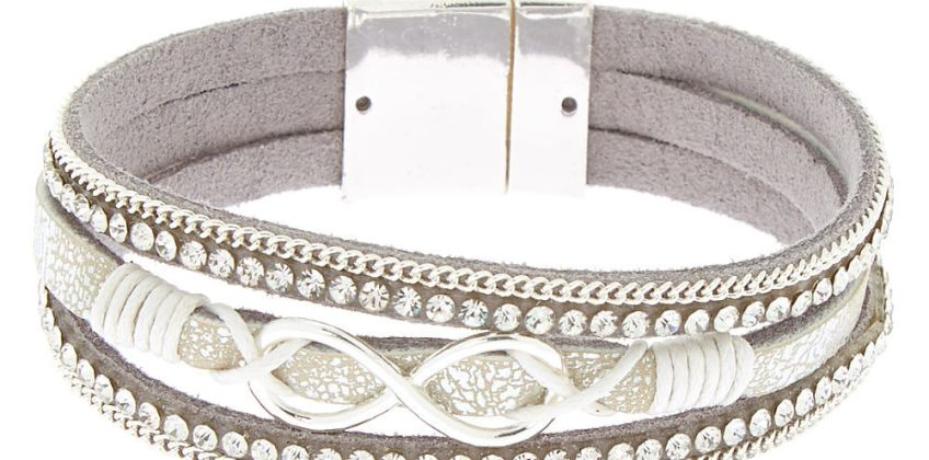 Go to Product: Embellished Infinity Wrap Bracelet - Silver from Claires