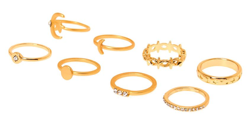 Go to Product: Gold Celestial Rings - 8 Pack from Claires