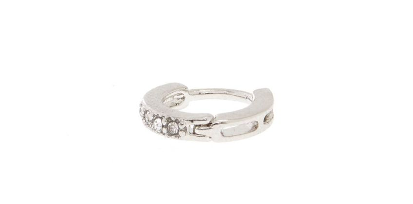 Go to Product: Silver Eternity Crystal Cartilage Hoop Earring from Claires