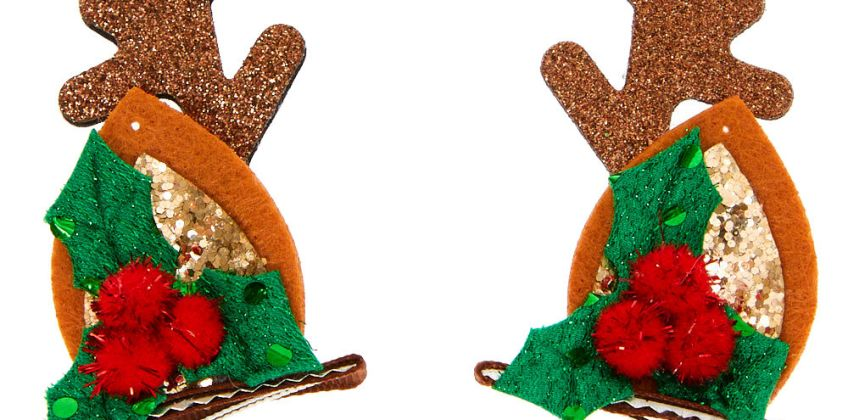 Go to Product: Reindeer Ear Hair Clips - Brown, 2 Pack from Claires