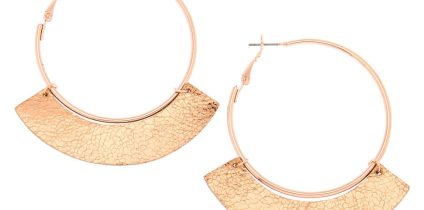 Go to Product: Rose Gold 50MM Metallic Hoop Earrings from Claires