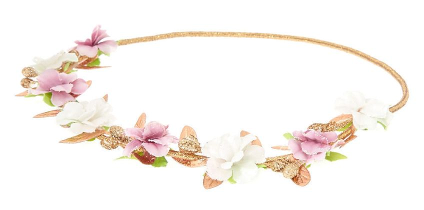 Go to Product: Gold Metallic Flower Crown Headwrap - Lilac from Claires