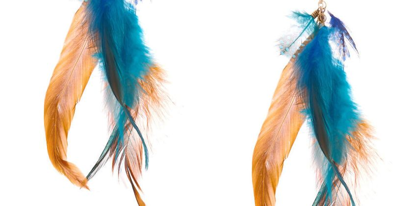 """Go to Product: 5"""" Elemental Feather Drop Earrings from Claires"""