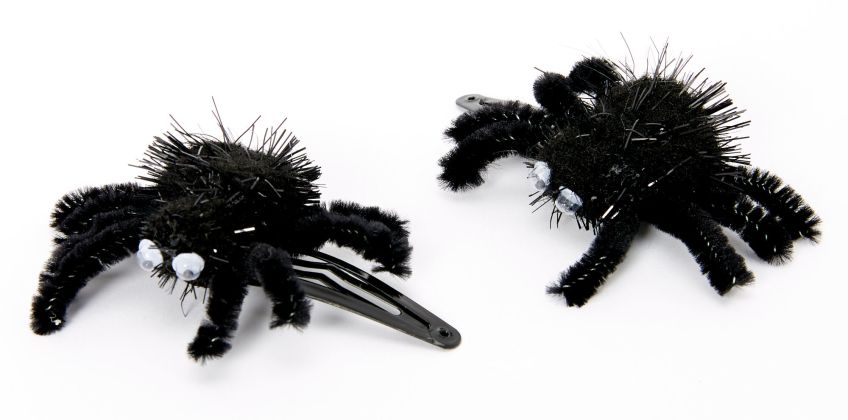 Go to Product: Fuzzy Spider Snap Hair Clips - Black, 2 Pack from Claires