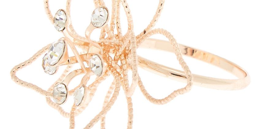 Go to Product: Rose Gold Wire Flower Ring from Claires
