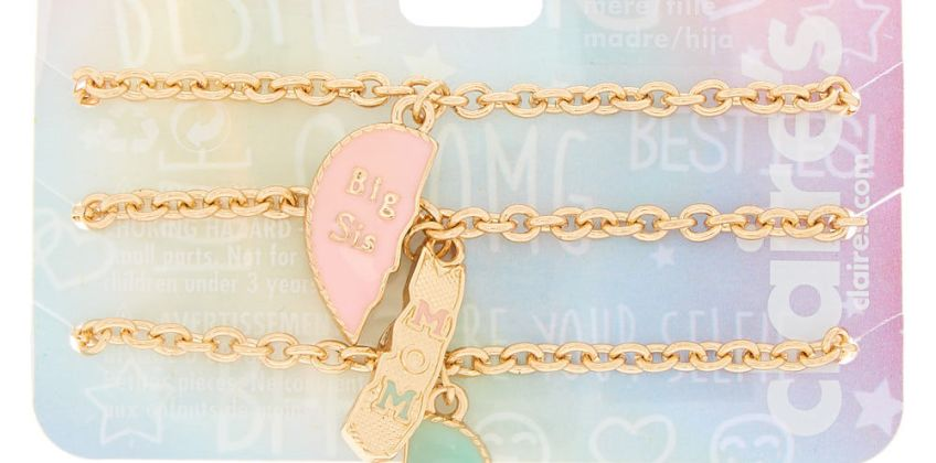 Go to Product: Pastel Heart Chain Generation Bracelets - 3 Pack from Claires