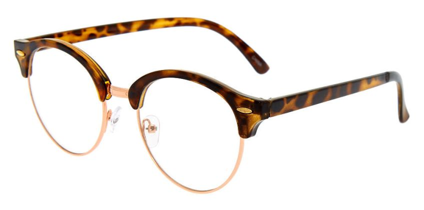 Go to Product: Rose Gold Tortoiseshell Browline Clear Lens Frames from Claires