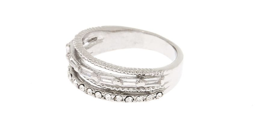 Go to Product: Silver Cubic Zirconia Stacked Ring from Claires