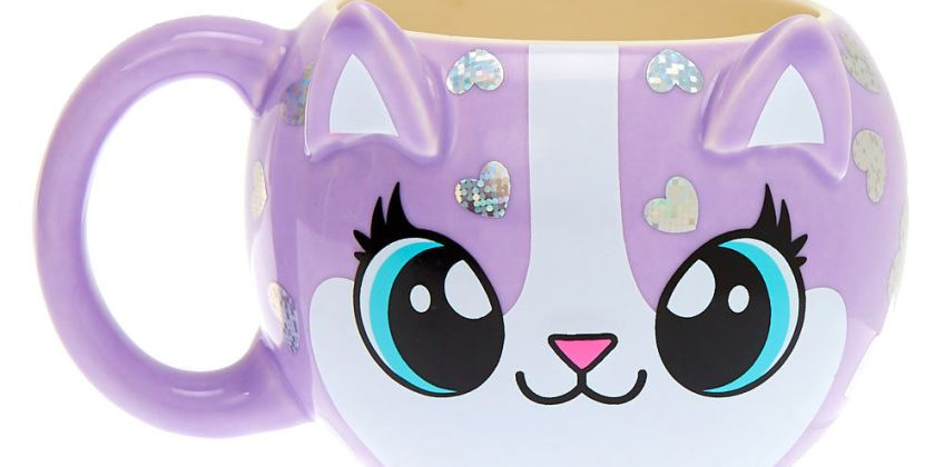 Go to Product: Carly the Cat Mug - Purple from Claires
