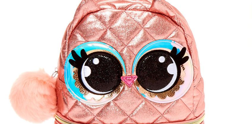 Go to Product: Luna the Owl Small Backpack - Pink from Claires