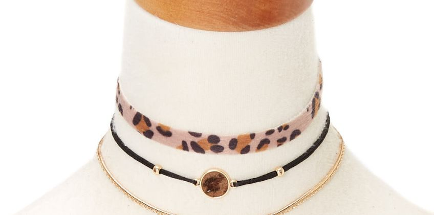 Go to Product: Leopard Choker Necklaces - 3 Pack from Claires