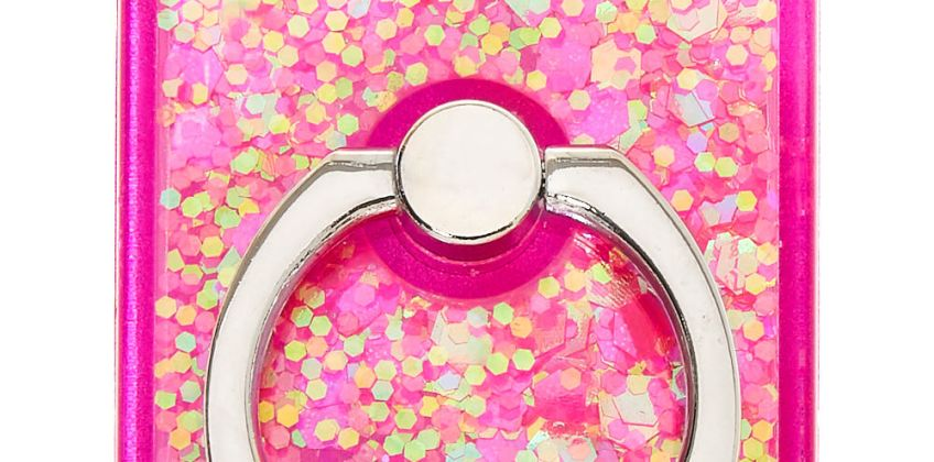Go to Product: Square Glitter Ring Stand - Pink from Claires
