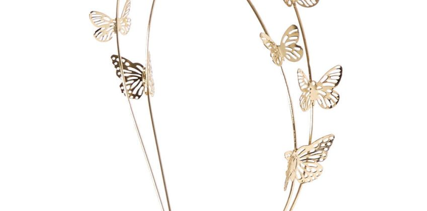 Go to Product: Gold Double Row Butterfly Headband from Claires