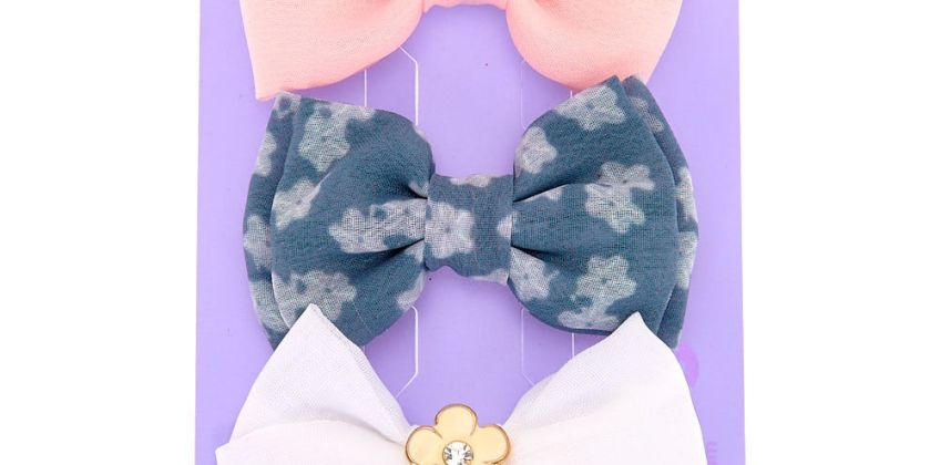 Go to Product: Pastel Floral Hair Bow Clips - 3 Pack from Claires