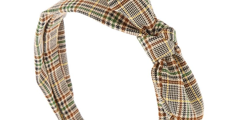 Go to Product: Classic Plaid Knotted Bow Headband - Brown from Claires