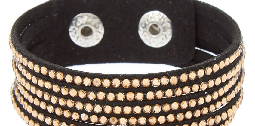 Go to Product: Studded Layered Wrap Bracelet - Copper from Claires