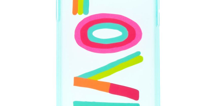 Go to Product: Rainbow Love Phone Case - Fits iPhone XR from Claires
