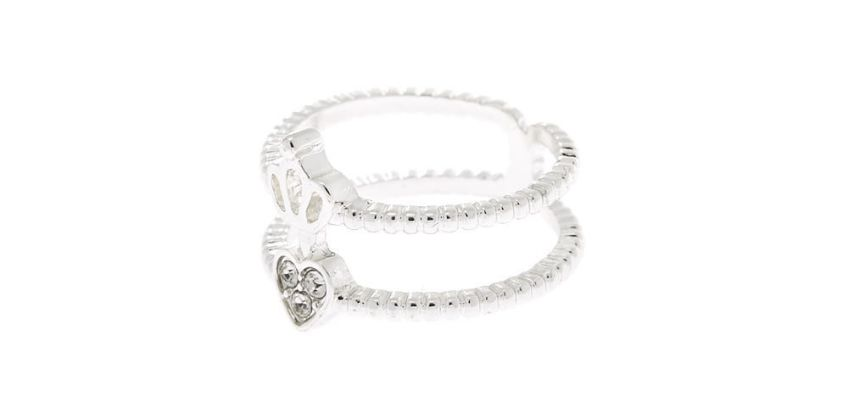 Go to Product: Silver Double Heart Crown Ring from Claires