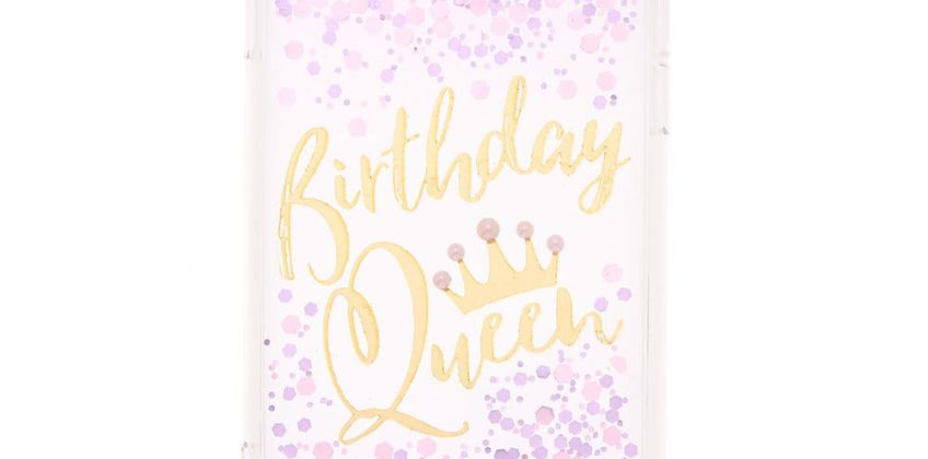 Go to Product: Birthday Queen Confetti Phone Case - Fits iPhone 6/7/8/SE from Claires
