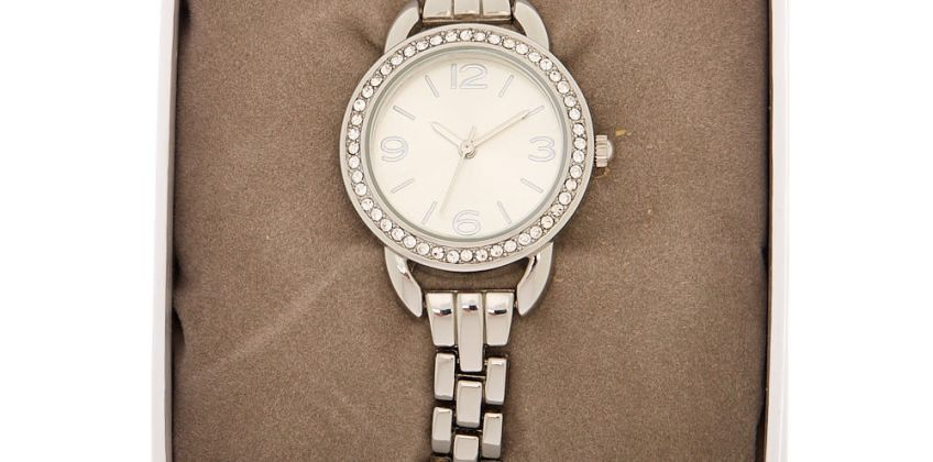Go to Product: Silver Embellished Link Watch from Claires