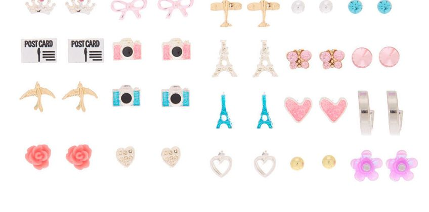 Go to Product: Parisian Jet Setter Stud Earrings - 20 Pack from Claires