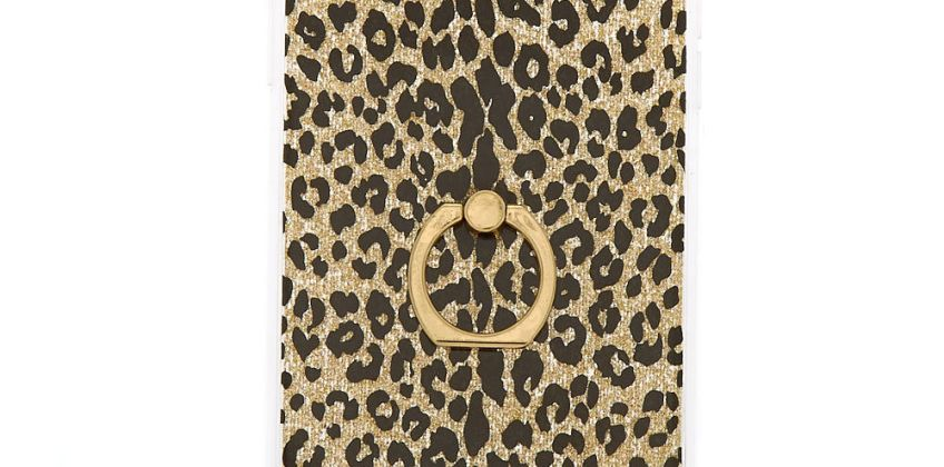 Go to Product: Gold Glitter Leopard with Ring Holder Phone Case - Fits iPhone XS Max from Claires