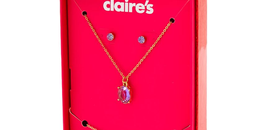Go to Product: June Birthstone Jewellery Gift Set - Light Amethyst, 3 Pack from Claires