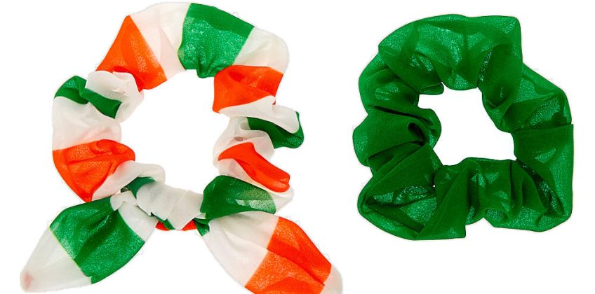 Go to Product: Small Luck of the Irish Hair Scrunchies - 2 Pack from Claires