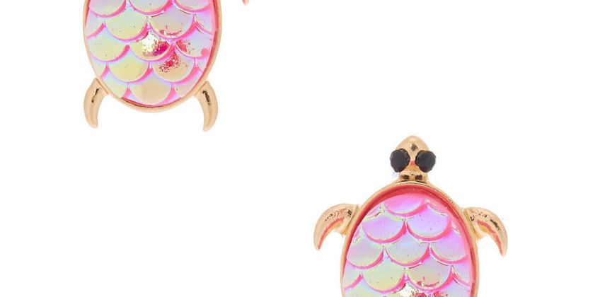 Go to Product: Holographic Turtle Stud Earrings - Pink from Claires