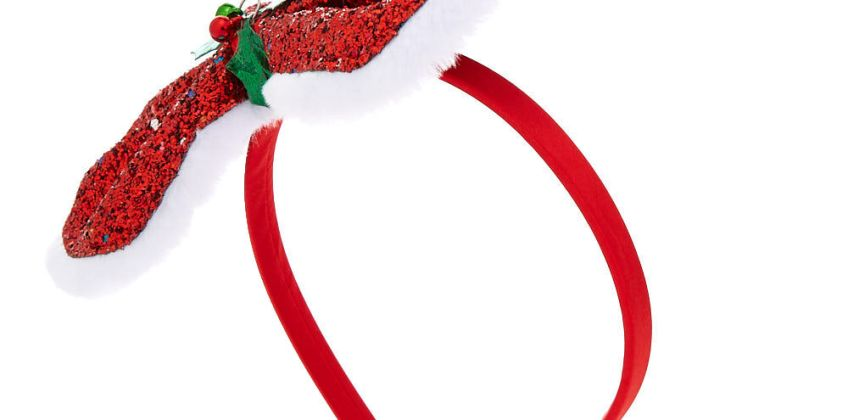 Go to Product: Glitter Holly Bow Headband - Red from Claires