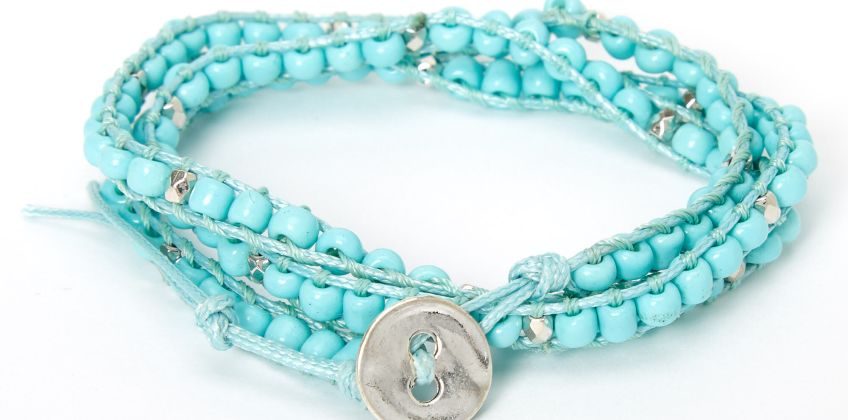 Go to Product: Beaded Wrap Bracelet - Turquoise from Claires