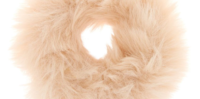Go to Product: Faux Fur Hair Scrunchie - Ivory from Claires