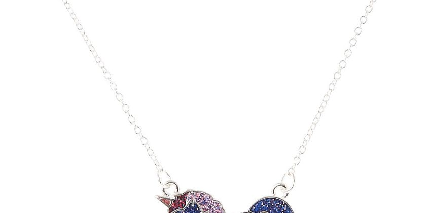 Go to Product: Purple Glitter Unicorn Pendant Necklace from Claires