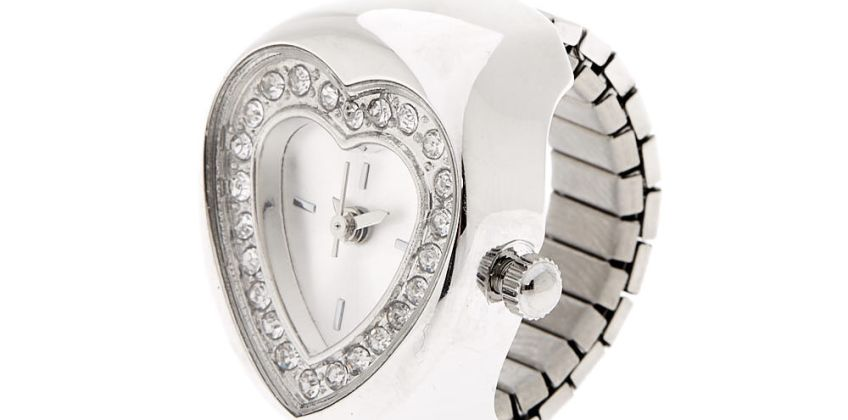 Go to Product: Silver Heart Ring Watch from Claires
