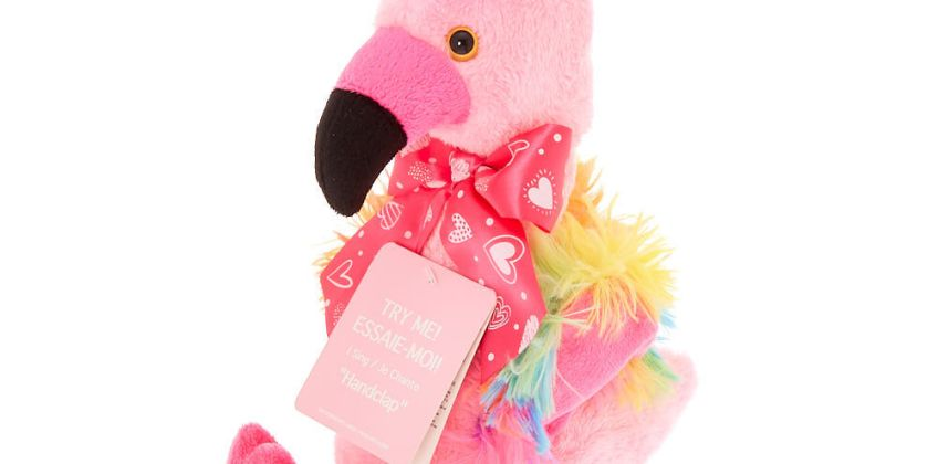 Go to Product: Claire's Club Dancing & Singing Flamingo Soft Toy from Claires