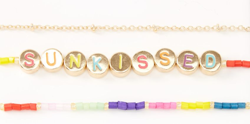 Go to Product: Gold Rainbow Sunkissed Mixed Bracelets - 3 Pack from Claires