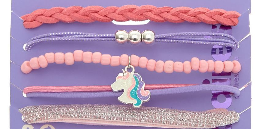 Go to Product: Miss Glitter the Unicorn Stretch Bracelets - 5 Pack from Claires