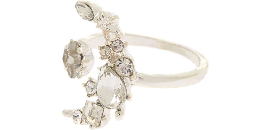 Go to Product: Silver Moon & Star Ring from Claires