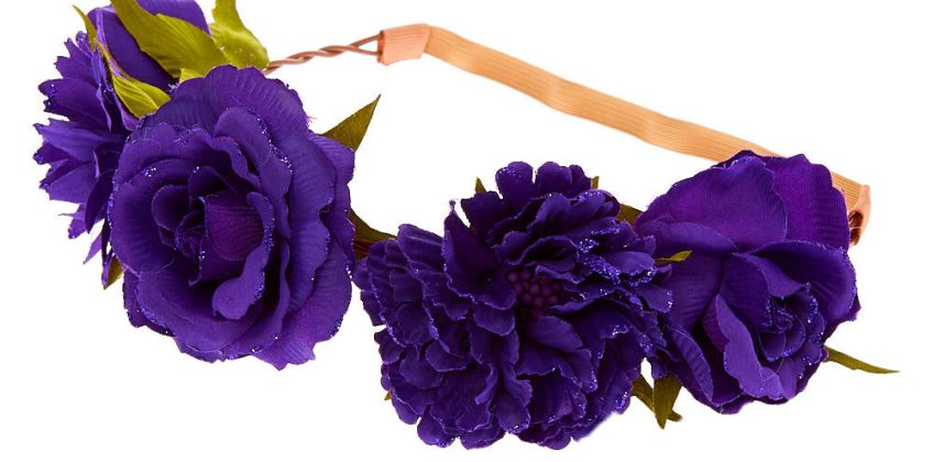 Go to Product: Glitter Rose Flower Crown Headwrap - Purple from Claires