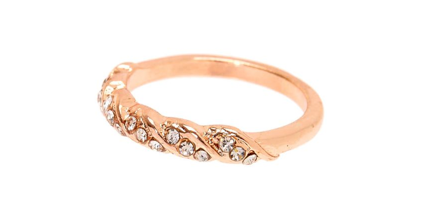 Go to Product: Rose Gold Embellished Twist Ring from Claires