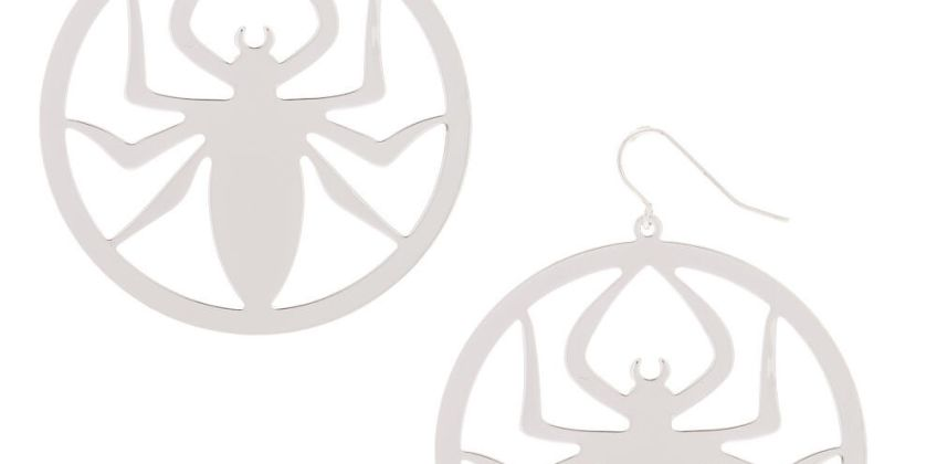 """Go to Product: Silver 2"""" Spider Drop Earrings from Claires"""