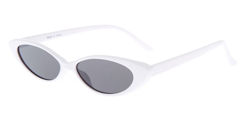 Go to Product: Slim Cat Eye Sunglasses - White from Claires