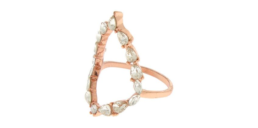 Go to Product: Rose Gold Embellished Teardrop Ring from Claires