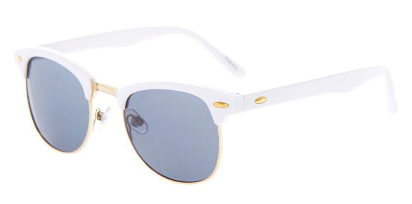 Go to Product: Gold Retro Browline Sunglasses - White from Claires