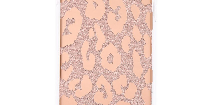 Go to Product: Rose Gold Glitter Leopard Print Phone Case - Fits iPhone 5/5S from Claires